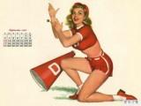 1950年的美女挂历 性感老照片(图)